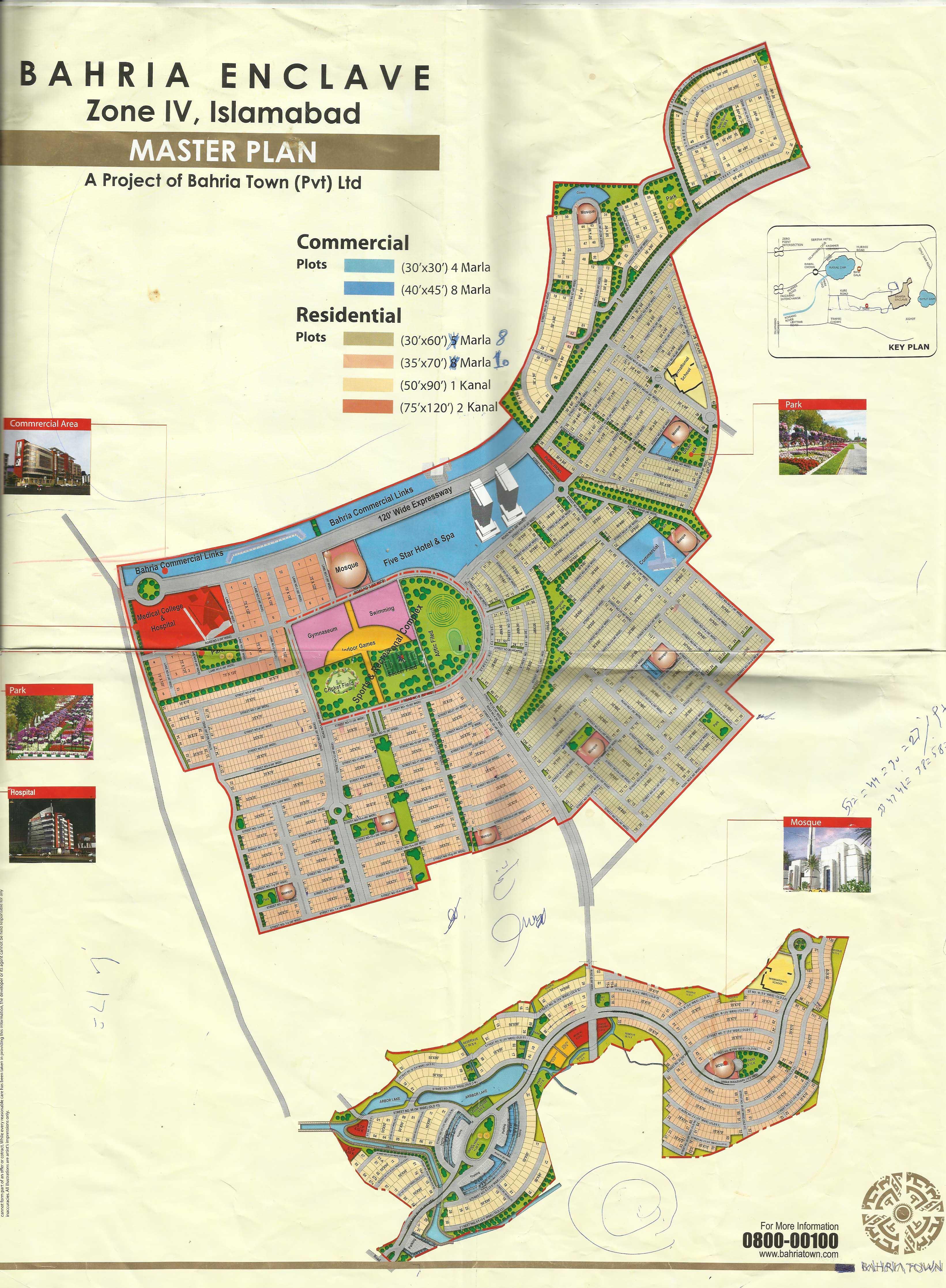 Bahria Enclave Map
